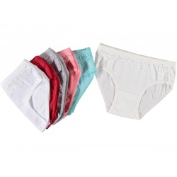 12 Pieces Lace Multicolor Underwear for Girls
