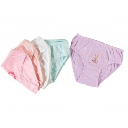 12 Pieces Lycra Printed Multicolor Underwear for Girls
