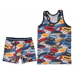 Patterned Boys Colorful Underwear SUIT  11 YEARS ( 6 suits package )