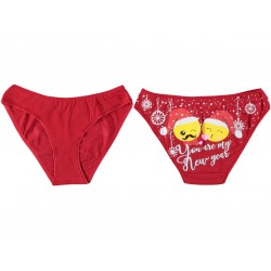 12 Pieces Printed FEMALE Red Underwear