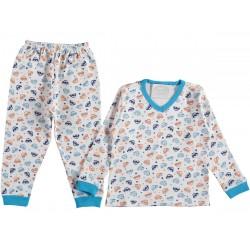 PRINTED Boys PAJAMA SUIT  1-3  YEARS ( 3 suits package )