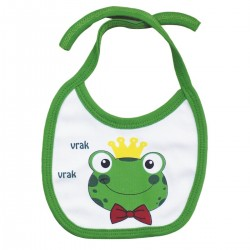 Newborn baby bib from the frog