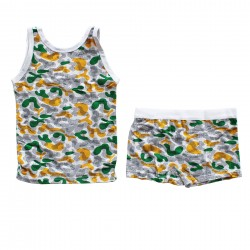 Green and yellow? colorful men's boxer outfit