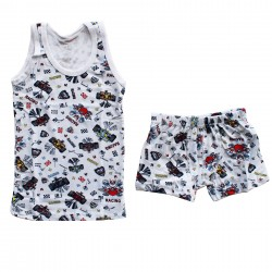 Boxer suit for boys racing undershirt