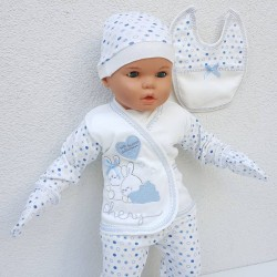 5-Piece Blue Hospital Outlet Set for Children with Teddy Bear and Tie