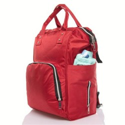 A backpack for the mother to put the baby's supplies