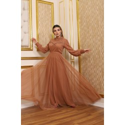 Brown Tulle Dress