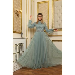Grey tulle Dress