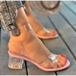 women Transparent Heels Sandal