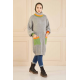 Colorful Turtleneck Knitwear Sweater Grey Color