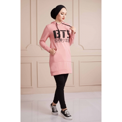 BTS Letter Printed Sports Sweat Pink Color