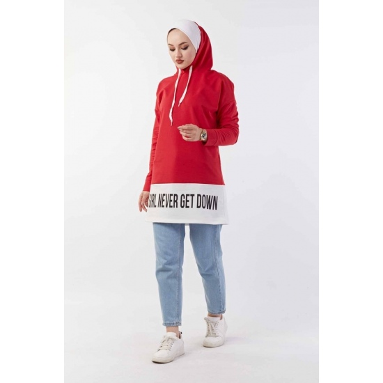 Hooded Sport Red Sweat