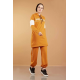 Hooded Printed Sports Suit Mustard Color