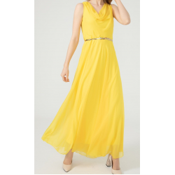 WOMEN'S Long chiffon Yellow Dress  ( 4 Dresses package )