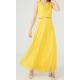 WOMEN'S Long chiffon Yellow Dress  ( 4 Dresses package )