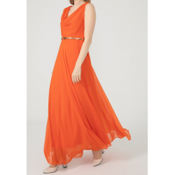 WOMEN'S Long chiffon Orange Dress  ( 4 Dresses package )