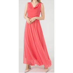 WOMEN'S Long chiffon Rose Dress  ( 4 Dresses package )