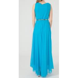 WOMEN'S Long chiffon Blue Dress  ( 4 Dresses package )