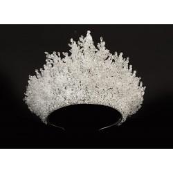 Royal Crown For Brides Made Of Original Zircon Stone