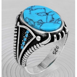 Men's silver ring claw model