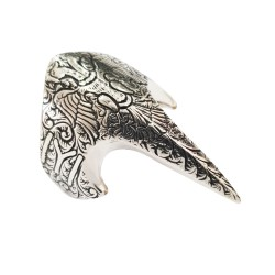 Celio Eagle Archer Zigger Silver Men's Ring