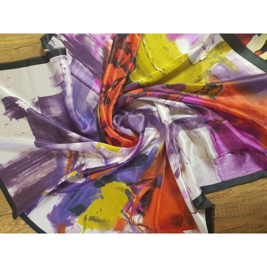 Colorful women's scarf with a soft touch
