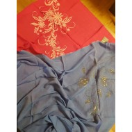 Embroidered women's scarf